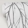 Picture of Diani Charcoal Metallic Tree Wallpaper