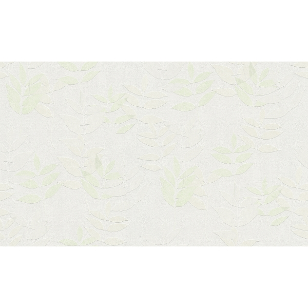 Picture of Napali Light Green Leaf Wallpaper