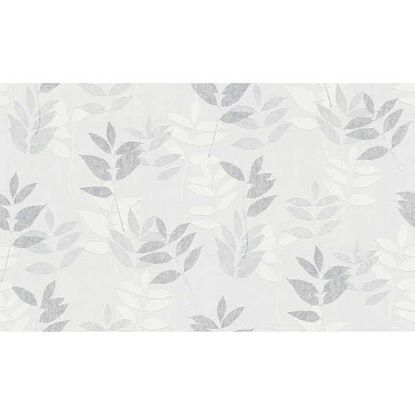 Picture of Napali Light Grey Leaf Wallpaper