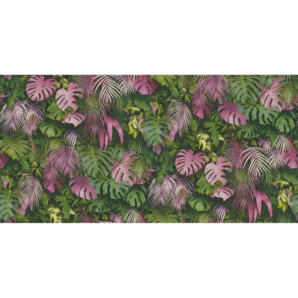 Picture of Luana Pink Tropical Forest Wallpaper
