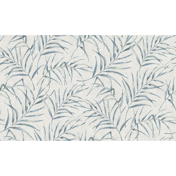 Picture of Lani Blue Fronds Wallpaper