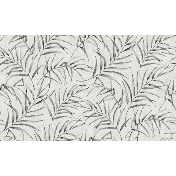 Picture of Lani Grey Fronds Wallpaper
