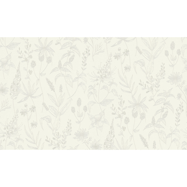 Picture of Nami White Floral Wallpaper