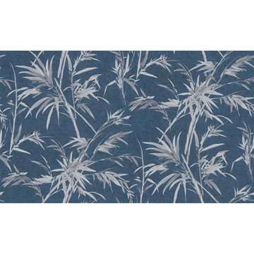 Picture of Hali Blue Fronds Wallpaper