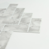 Picture of Herringbone Carrara Marble Peel and Stick Backsplash