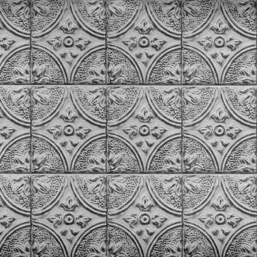 Silver Tin Tile Peel and Stick Backsplash