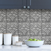 Silver Tin Tile Peel and Stick Backsplash Room Shot