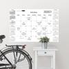 White Academic 2020-2021 Dry Erase Calendar Decal  Room