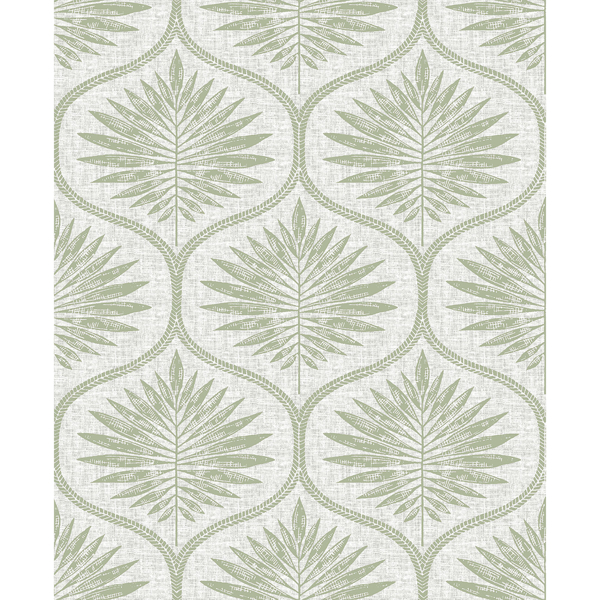 Picture of Green Primitive Leaves Peel and Stick Wallpaper