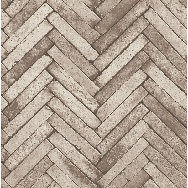 Picture of Ryon Taupe Diagonal Slate Wallpaper