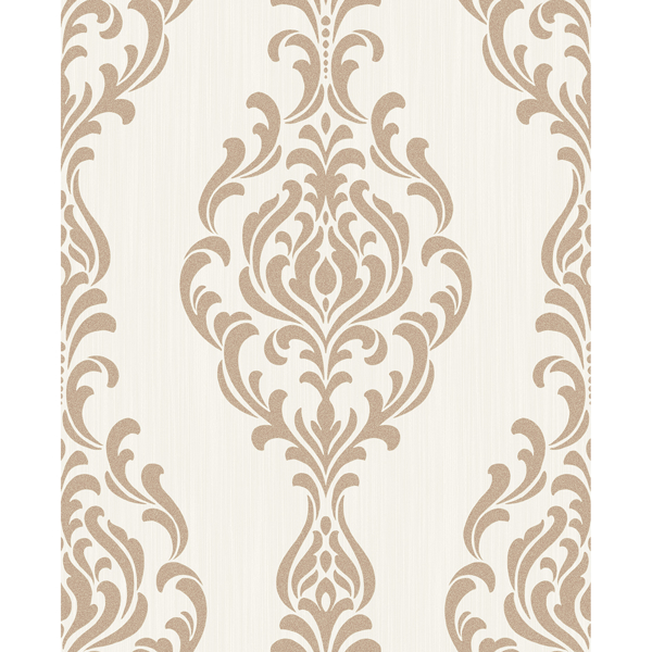 Picture of Takara Beige Damask Wallpaper