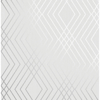 Picture of Shard Silver Trellis Wallpaper