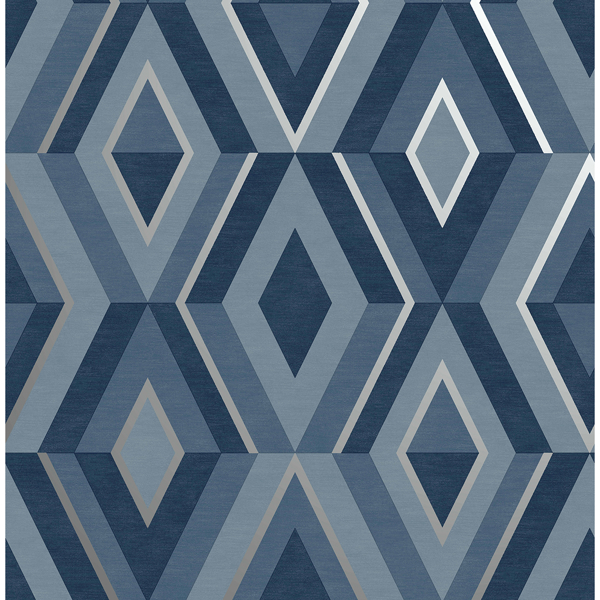 Picture of Shard Blue Geometric Wallpaper