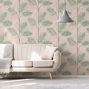 Picture of South Beach Blush Fronds Wallpaper