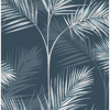 Picture of South Beach Navy Fronds Wallpaper