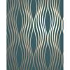 Picture of Valor Aquamarine Wave Wallpaper