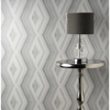 Picture of Aura Silver Geometric Wallpaper