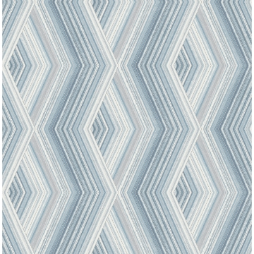 Picture of Aura Blue Geometric Wallpaper