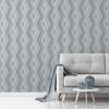 Picture of Aura Blue Geometric Wallpaper