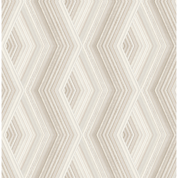Picture of Aura Taupe Geometric Wallpaper