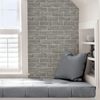 Picture of Scott Living District Brick Grey Self-Adhesive Wallpaper