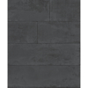Picture of Lanier Black Stone Plank Wallpaper