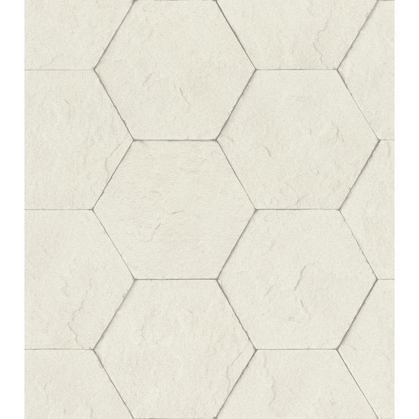 Picture of Bascom Dove Stone Hexagon Wallpaper