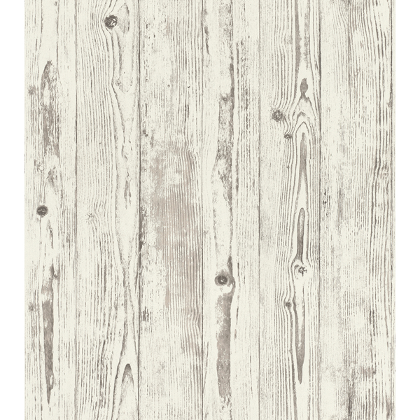 Picture of Albright White Weathered Oak Panels Wallpaper