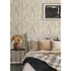 Picture of Albright Ivory Weathered Oak Panels Wallpaper