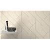 Picture of Pollock White Gilded Geometric Wallpaper