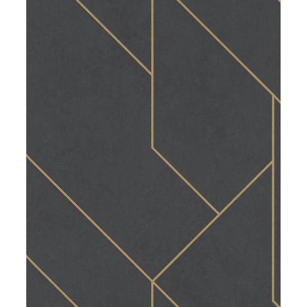 Picture of Pollock Black Gilded Geometric Wallpaper