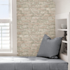Picture of White Washed Denver Brick Peel and Stick Wallpaper