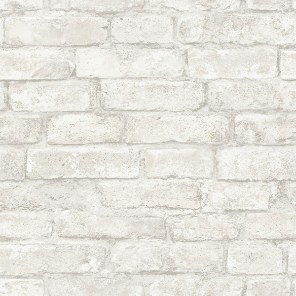 Picture of White Denver Brick Peel and Stick Wallpaper