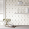 Picture of Circulate Light Silver Peel And Stick Wallpaper