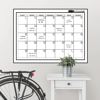 Picture of White Monthly Dry Erase Calendar