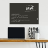 Picture of Black Dry Erase Message Board