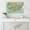 Picture of Aquarelle USA Dry Erase Map