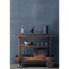 Picture of Lamphu Blue Grasscloth Wallpaper