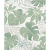 Picture of Nona Green Tropical Leaves Wallpaper