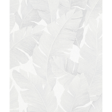 Picture of Attalea White Palm Leaf Wallpaper
