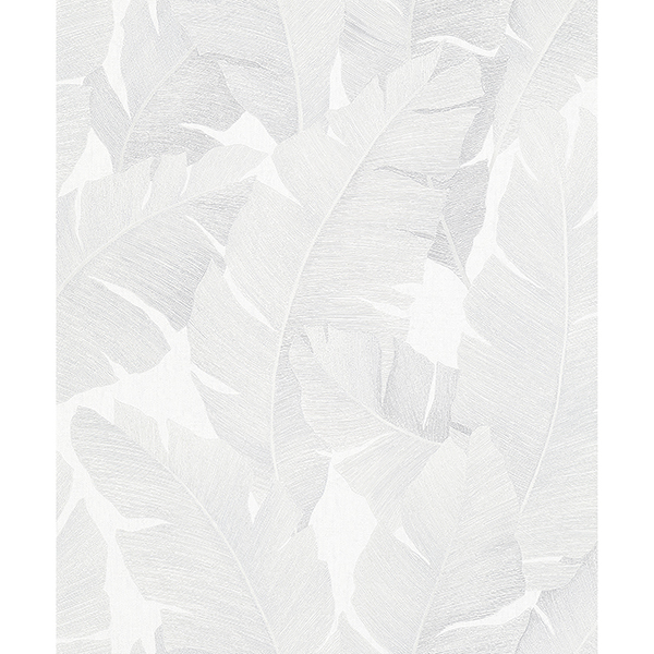 Picture of Attalea White Palm Leaf Wallpaper