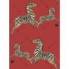 Picture of Masai Red Zebra Safari Scalamandré Self Adhesive Wallpaper