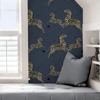 Picture of Denim Zebra Safari Scalamandré Self Adhesive Wallpaper