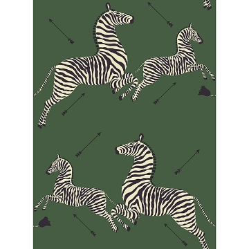 Picture of Serengeti Green Zebra Safari Scalamandré Self Adhesive Wallpaper