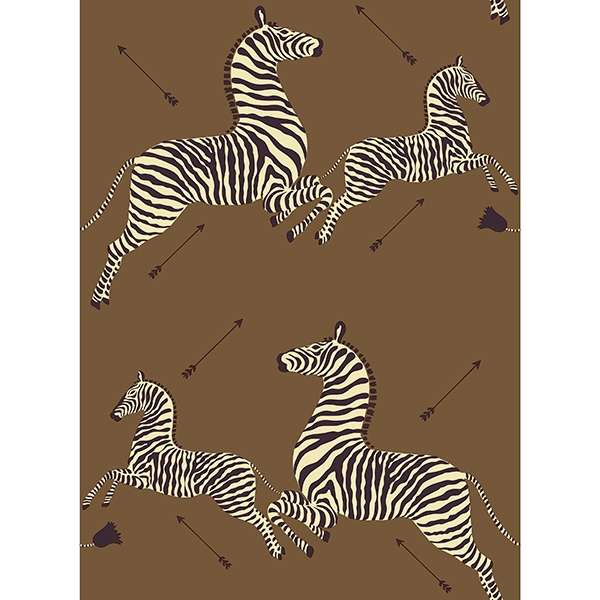 Picture of Safari Brown Zebra Safari Scalamandré Self Adhesive Wallpaper