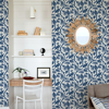Picture of Indigo Balinese Peacock Scalamandré Self Adhesive Wallpaper