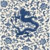 Picture of Indigo Chien  Dragon Scalamandre Self Adhesive Wallpaper