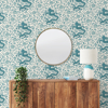 Picture of Peacock Chien Dragon Scalamandré Self Adhesive Wallpaper
