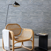 Picture of Yates Silver Marble Wallpaper