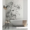 Picture of Embroidered Flowers Wall Mural